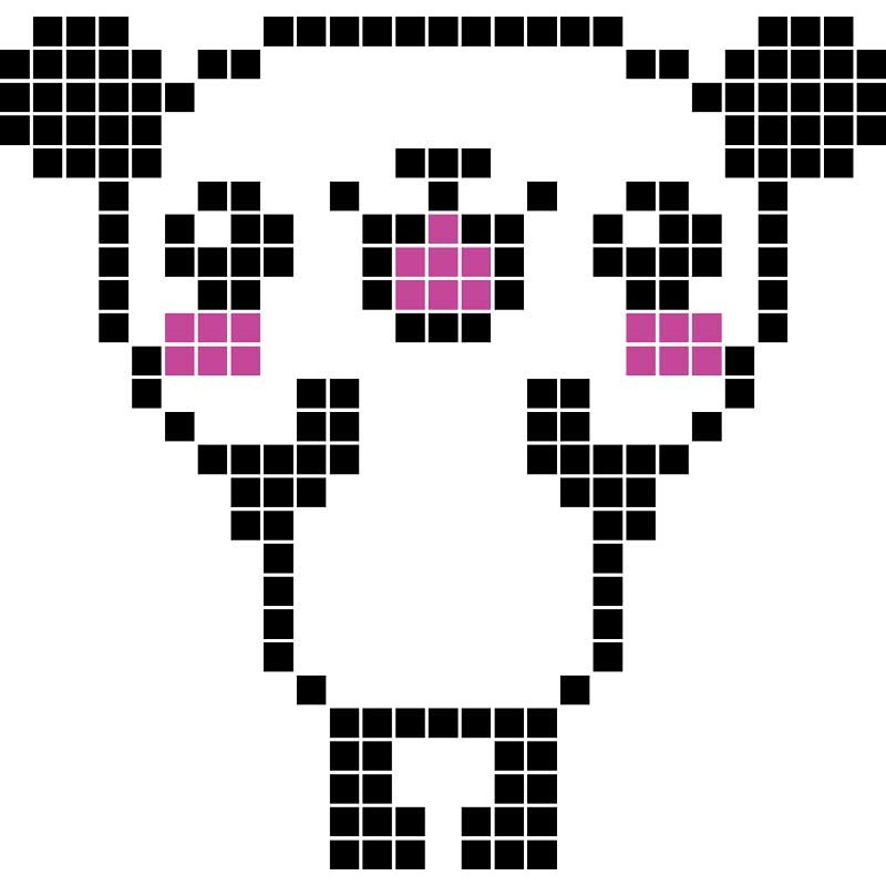 Pixel Art Facile Animaux Panda